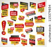 set of stickers and banners | Shutterstock .eps vector #115379854