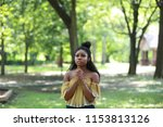 charming young ethnic woman... | Shutterstock . vector #1153813126