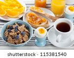 healthy breakfast | Shutterstock . vector #115381540