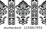seamless black and white damask ... | Shutterstock .eps vector #1153817953