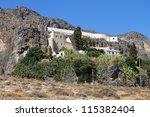 monastery of kapsa at crete... | Shutterstock . vector #115382404
