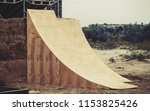 two big air wooden ramps for... | Shutterstock . vector #1153825426