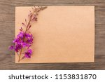 blooming sally purple flowers... | Shutterstock . vector #1153831870