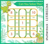 mathematical riddle. count game ... | Shutterstock .eps vector #1153832266