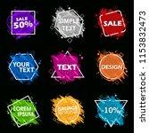 grunge background set. vector... | Shutterstock .eps vector #1153832473