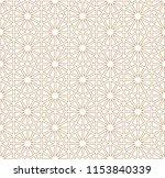 japanese pattern vector. gold... | Shutterstock .eps vector #1153840339