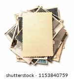 stack old photos isolated on... | Shutterstock . vector #1153840759