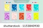 abstract vector business... | Shutterstock .eps vector #1153840930