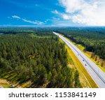 aerial view of highway in city. ... | Shutterstock . vector #1153841149