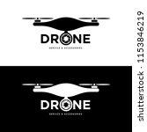 drone logo design | Shutterstock .eps vector #1153846219