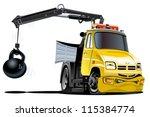 vectore cartoon tow truck