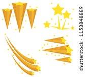 fireworks from the stars.... | Shutterstock .eps vector #1153848889