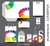 stationery design set in... | Shutterstock .eps vector #115385914