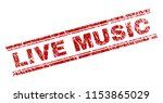 live music seal stamp with... | Shutterstock .eps vector #1153865029