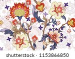seamless pattern with stylized... | Shutterstock .eps vector #1153866850