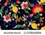 seamless pattern with stylized... | Shutterstock .eps vector #1153866886