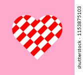 red and white rectangles... | Shutterstock .eps vector #1153875103