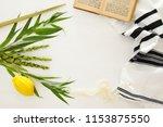 jewish festival of sukkot.... | Shutterstock . vector #1153875550
