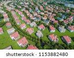 aerial view of a neighborhood... | Shutterstock . vector #1153882480
