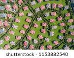 aerial view of a neighborhood...   Shutterstock . vector #1153882540