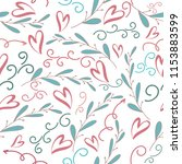 seamless romantic pattern with... | Shutterstock .eps vector #1153883599