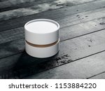 white with gold tube tin can... | Shutterstock . vector #1153884220