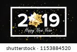 2019 happy new year background... | Shutterstock .eps vector #1153884520