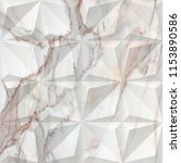 geometric on marble texture... | Shutterstock . vector #1153890586