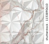 geometric on marble texture... | Shutterstock . vector #1153890610