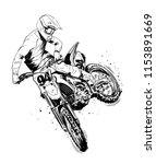 motocross black and white   Shutterstock .eps vector #1153891669