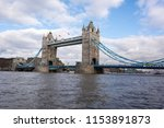 tower bridge and river thames | Shutterstock . vector #1153891873