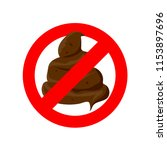 no pooping  shitting sign for... | Shutterstock .eps vector #1153897696