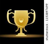 golden trophy on dark... | Shutterstock .eps vector #1153897699