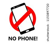 no phone usage or don't use... | Shutterstock .eps vector #1153897720