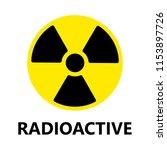 radioactive zone alert sign | Shutterstock .eps vector #1153897726