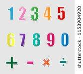 paper graphic alphabet numbers | Shutterstock .eps vector #1153904920