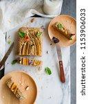 homemade breakfast or tea... | Shutterstock . vector #1153906033