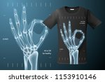 all is ok sign  x ray of human... | Shutterstock .eps vector #1153910146