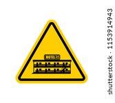 attention motel. danger mini... | Shutterstock .eps vector #1153914943