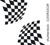 racing flags vector | Shutterstock .eps vector #1153923139