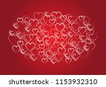 hearts and valentine's day... | Shutterstock .eps vector #1153932310
