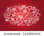 hearts and valentine's day... | Shutterstock .eps vector #1153932313