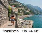 positano  italy   august 2 ... | Shutterstock . vector #1153932439