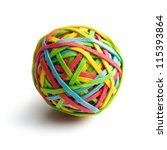 rubber band ball on white... | Shutterstock . vector #115393864