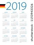 calendar 2019 year   vector... | Shutterstock .eps vector #1153943326