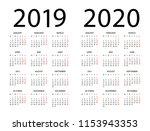 Calendar 2019 2020 Year  ...