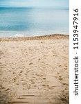 enter the sandy beach  summer... | Shutterstock . vector #1153947916
