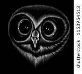 the vector logo owl for t shirt ... | Shutterstock .eps vector #1153954513