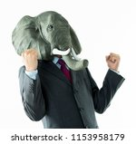 businessman with head of... | Shutterstock . vector #1153958179