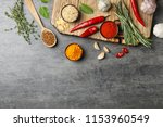 flat lay composition with... | Shutterstock . vector #1153960549